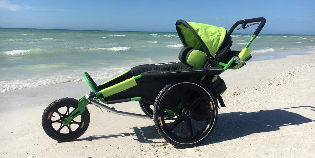 Strollers can be equiped with wheels designed for beaches